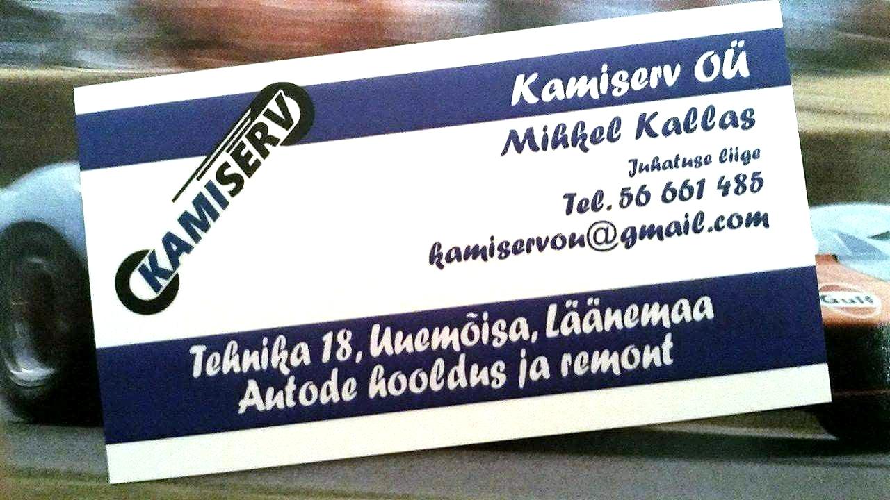 Kamiserv-visiitkaart