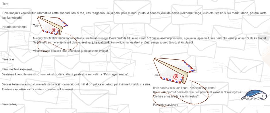 epood ja kirjavahetused - hallata aitab info@assistent.ee
