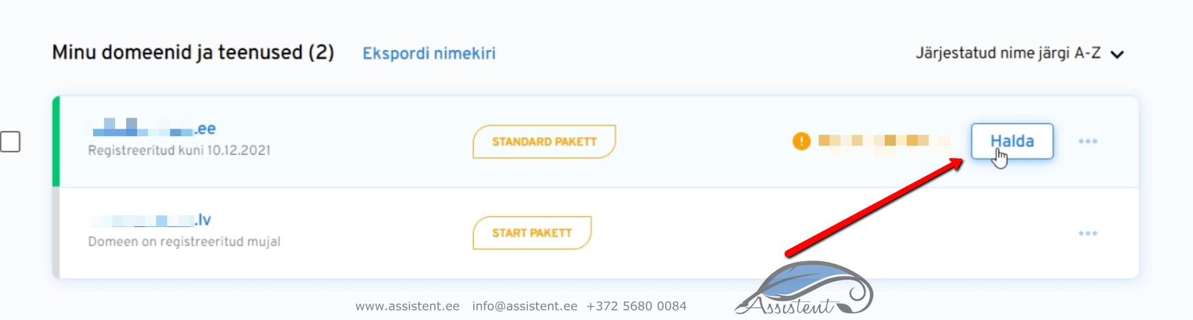 vali domeen - info@assistent.ee +372 5680 0084